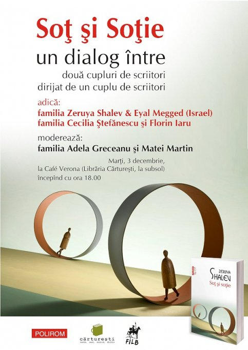 Sot si sotie: trei cupluri de scriitori in dialog la Cafe Cărtureşti Verona