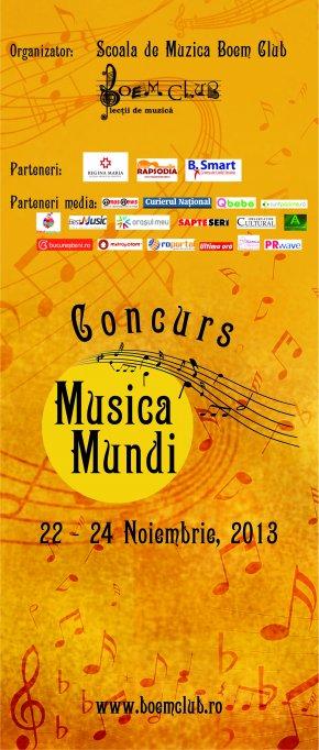 """Ultimele zile de inscrieri la Concursul pentru amatori """"Musica Mundi""""!"""