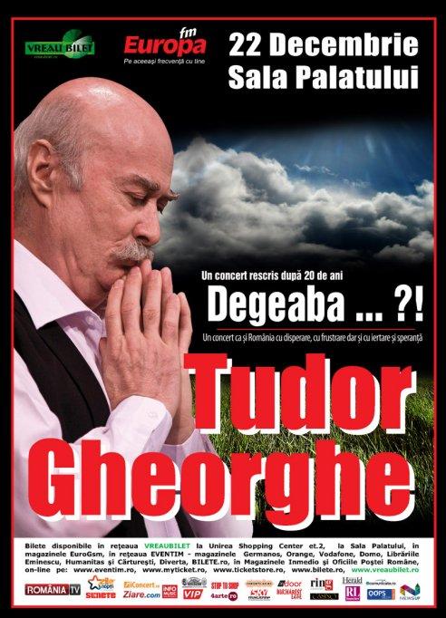 "Tudor Gheorghe – ""Degeaba"" - SOLD-OUT cu o saptamana inainte de eveniment!"
