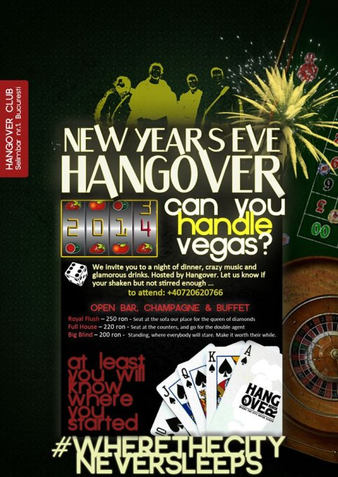 New Year's Eve 2013-2014 - Can you handle Vegas? @ Hangover