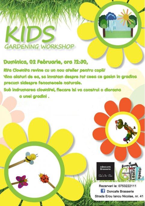 Atelier de gradinarit pentru copii