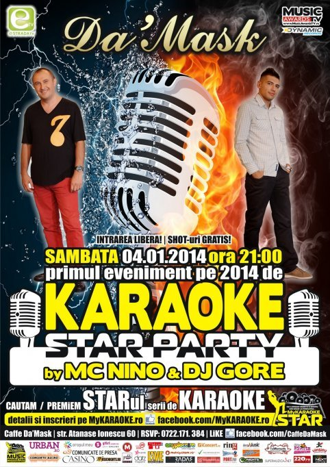 Karaoke Star Party by MC Nino & DJ Gore @ Caffe Da'Mask