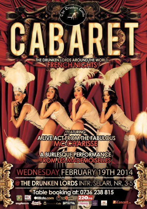 FRENCH CABARET NIGHT @ The Drunken Lords
