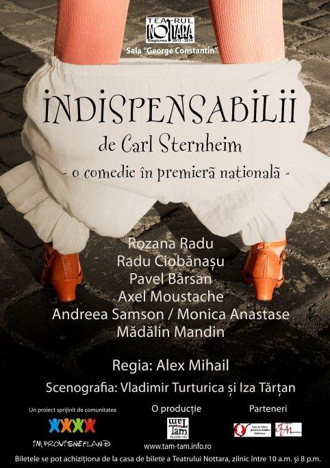 Indispensabilii - O comedie în premieră naţională la Teatrul Nottara