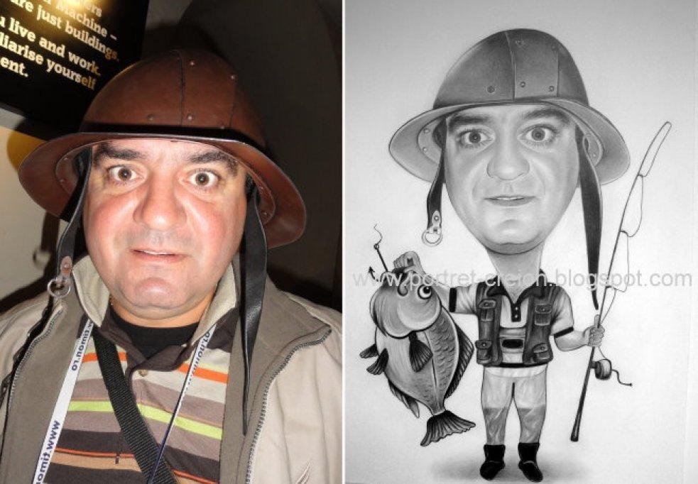 Caricaturi dupa fotografie realizate in creion
