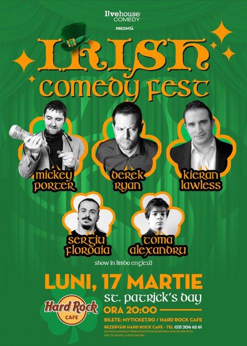 Sarbatoreste Saint Patrick's Day cu Irish Comedy Festival