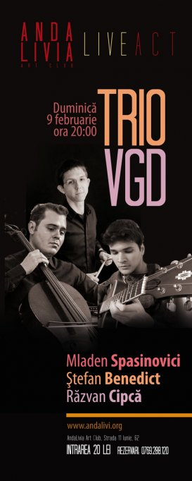 Live Jazz cu TRIO VGD la Andalivia Art Club