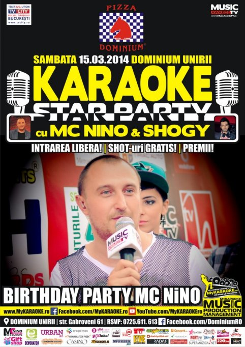 Karaoke Birthday Party cu Mc Nino & Shogy