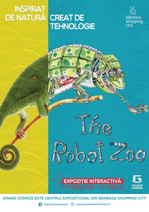 The Robot Zoo, expozitia interactiva a animalelor robotizate, vine la Grand Cosmos, in Baneasa Shopping City
