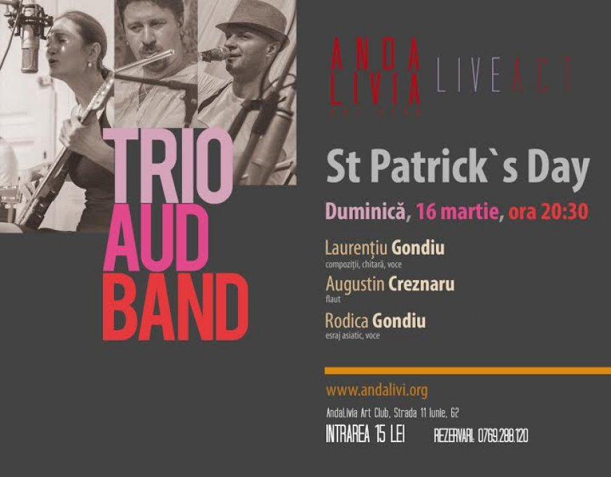 Trio Aud band aduce Saint Patrick's Day la Bucuresti