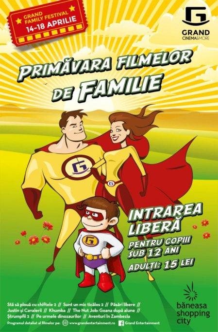 In vacanta de primavara, Grand Family Festival aduce filme gratuite pentru copii