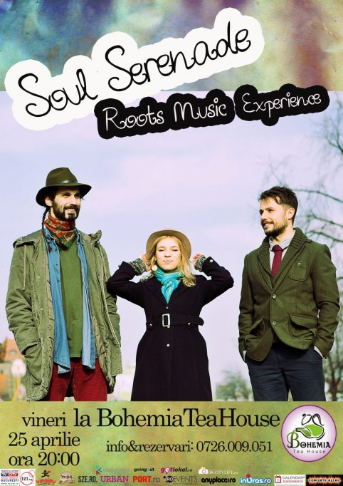 Roots Music Experience with Soul Serenade live in Bohemia Tea House