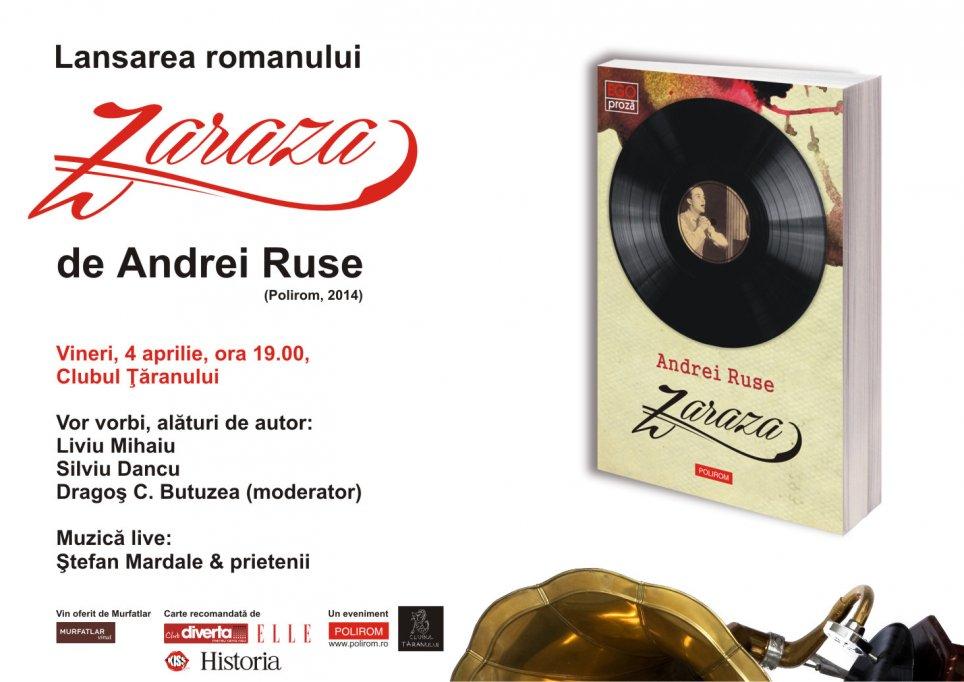 Lansarea noului roman al lui Andrei Ruse, Zaraza