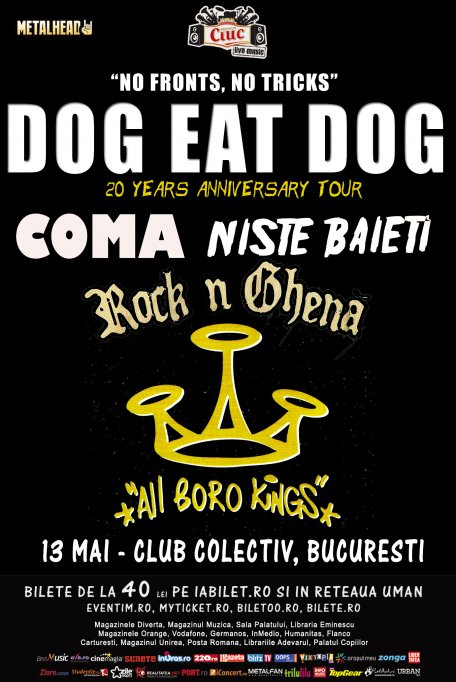 Dog Eat Dog la Bucuresti: ultima zi de presale !