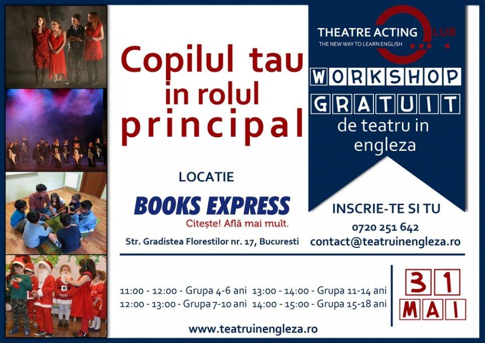 Atelier GRATUIT de teatru in engleza pentru copii si adolescenti