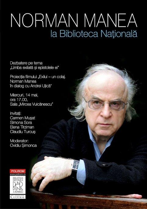 Intilnire cu Norman Manea la Biblioteca Nationala a Romaniei