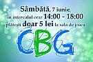 Sambata: 5 lei la sala de joaca CBG in intervalul orar 14:00-18:00