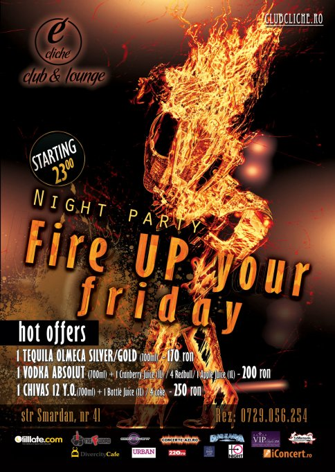 FIRE UP your Fridays @ Cliche Club & Lounge