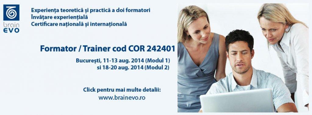 Curs autorizat Formator cod COR 242401