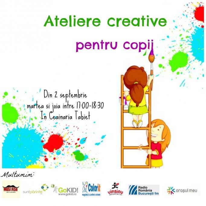Ateliere creative pentru copii
