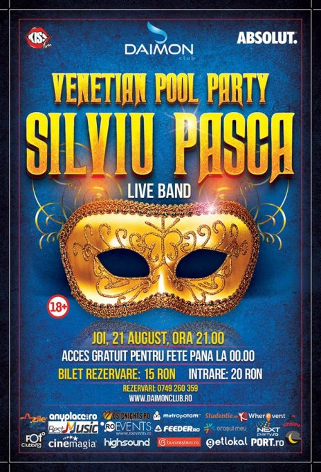 Venetian Pool Party - SILVIU PAȘCA Live Band