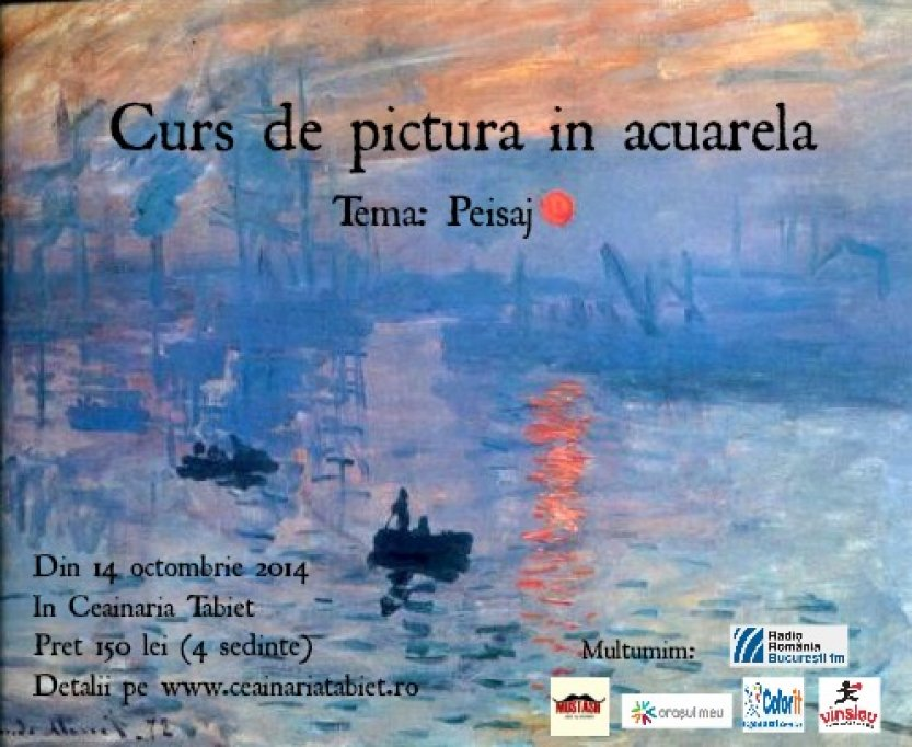 Curs de pictura in acuarela