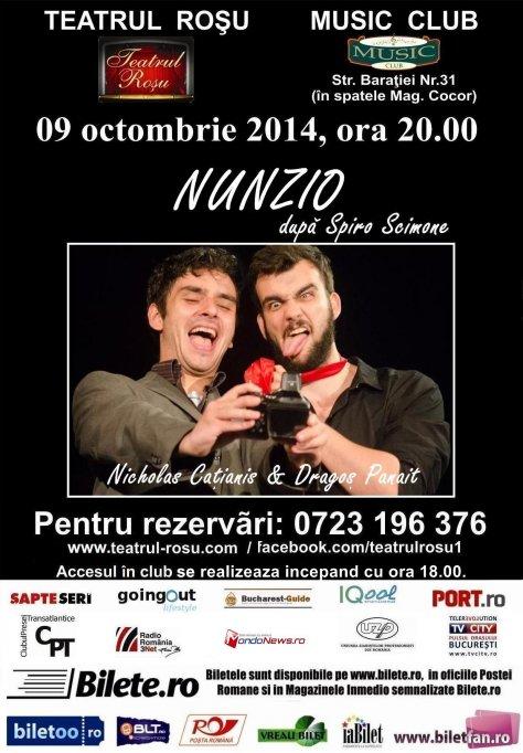 "Premiera la Teatrul Rosu: ""Nunzio"""
