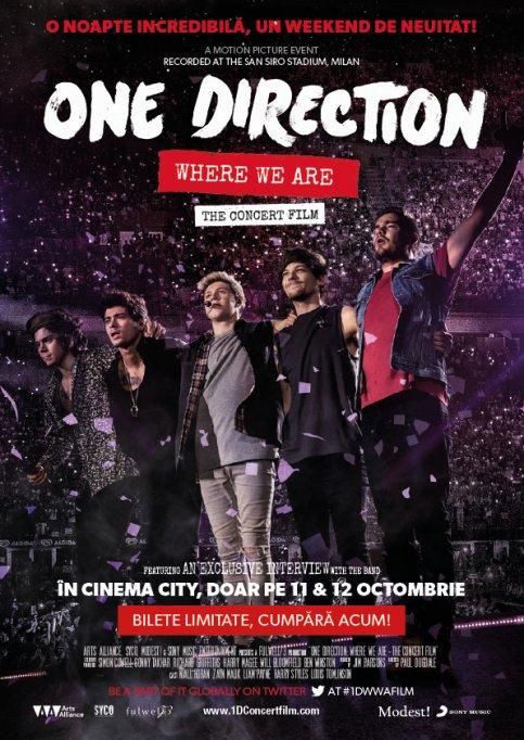 Băieții de la One Direction vin în România pentru un weekend-eveniment, la Cinema City