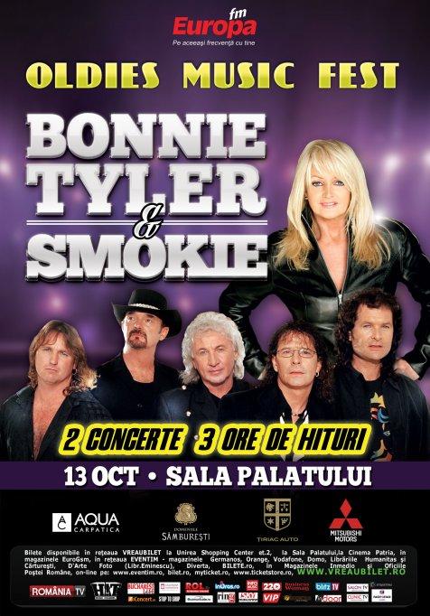 Pregatiri in linie dreapta pentru concertele Bonnie Tyler & Smokie de la Sala Palatului