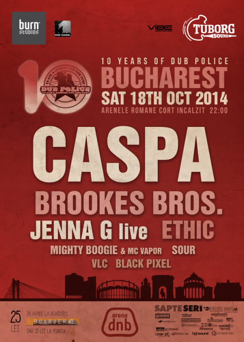 Dub Police 10 years anniversary: Caspa, Jenna G, Brookes Brothers @ Arena dnb