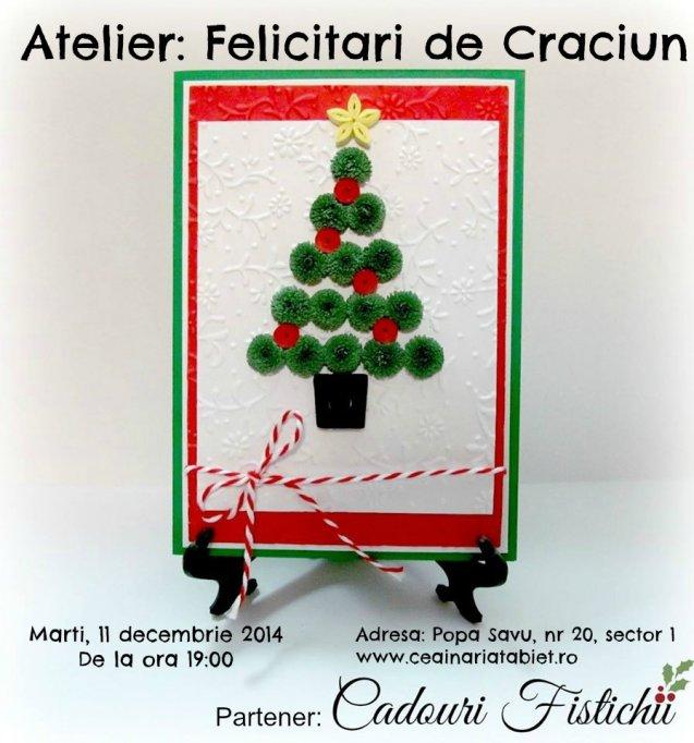 Atelier: Felicitari de Craciun