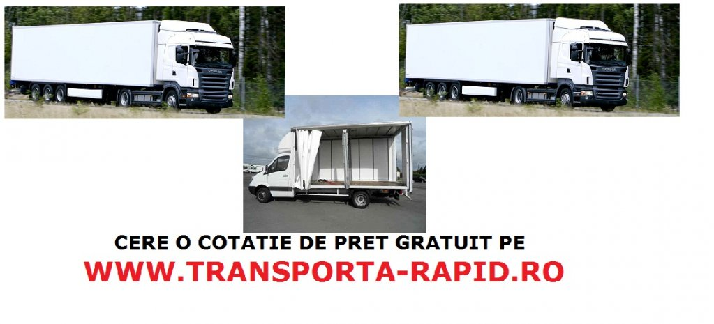 Transport rutier de Marfa , Mobila , Relocari National si International