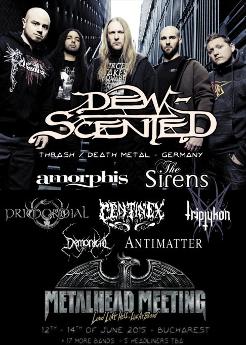 Germanii de la DEW SCENTED se alatura festivalului Metalhead Meeting 2015