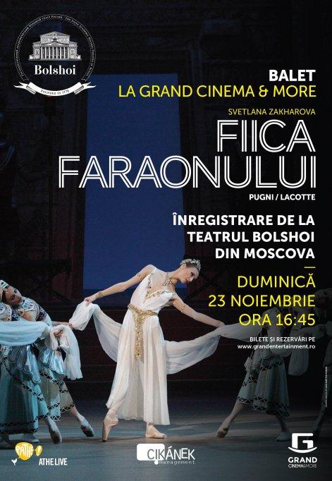 Spectacolele de balet Fiica Faraonului si La Bayadere vor fi transmise la Grand Cinema & More de pe scena Teatrului Bolshoi