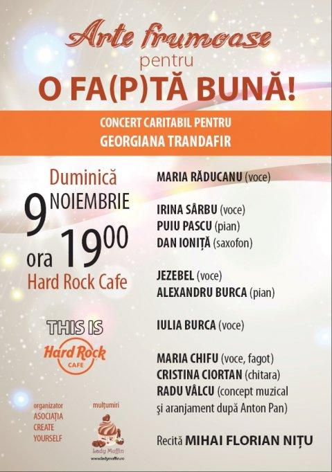 Concert Caritabil de Jazz pentru Georgiana