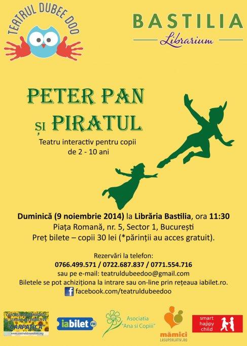 Peter Pan si Piratul - spectacol interactiv de teatru pentru copii