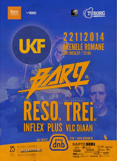 Arena Dnb prezinta UKF party cu BAR9, RESO si TREi