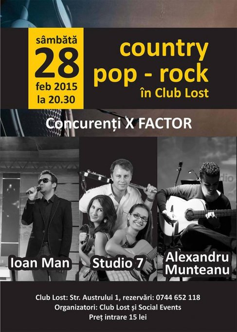 Live Country,Pop - Rock in Clun Lost