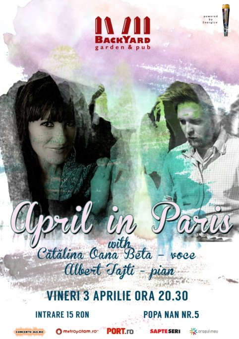 """April in Paris"" cu Cătălina Oana Beta – voce si Albert Tajti - pian"