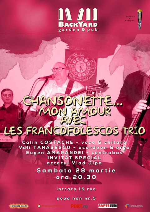 CHANSONETTE... MON AMOUR avec LES FRANCOFOLESCOS TRIO