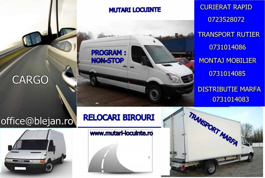 Transport mobilier si bagaje
