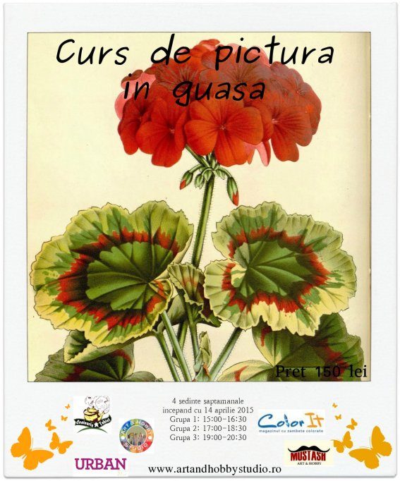 Curs de pictura in guasa
