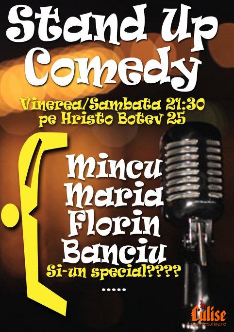 Stand Up Comedy cu Mincu, Maria, Banciu și TEO (special guest)