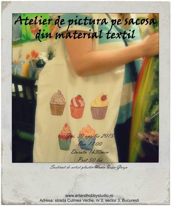 Atelier de pictura pe sacose