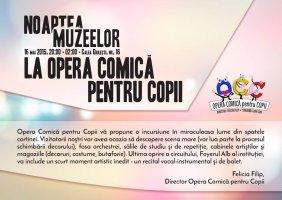 Opera Comica pentru Copii a intrat in circuitul Noaptea Europeana a Muzeelo