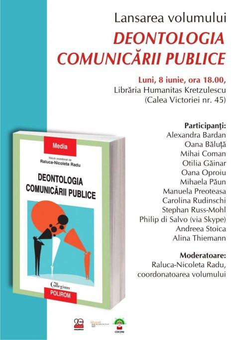 Lansare la Bucuresti: Deontologia comunicarii publice