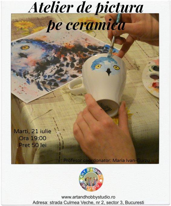 Atelier de pictat cani din ceramica