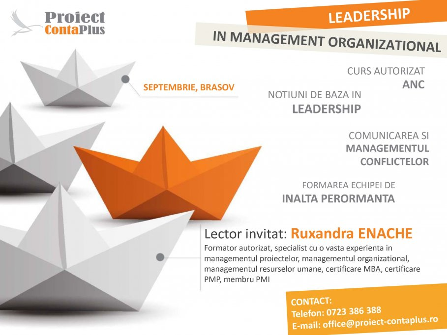 CURS LEADERSHIP IN MANAGEMENT ORGANIZATIONAL