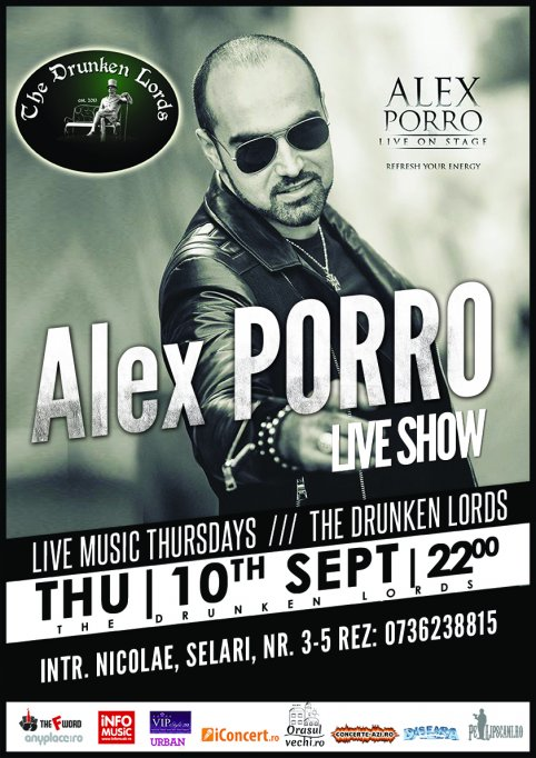 10sept | LIVE Thursdays by Alex Porro & Band @ The Drunken Lords