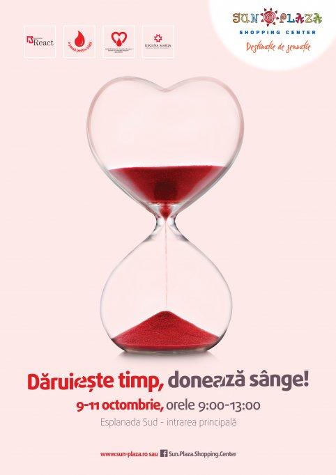 """Caravana """"Dăruieste timp, donează sânge"""" intre 9 - 11 octombrie 2015"""